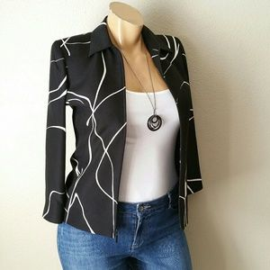Ellen Tracy Black & White Blazer